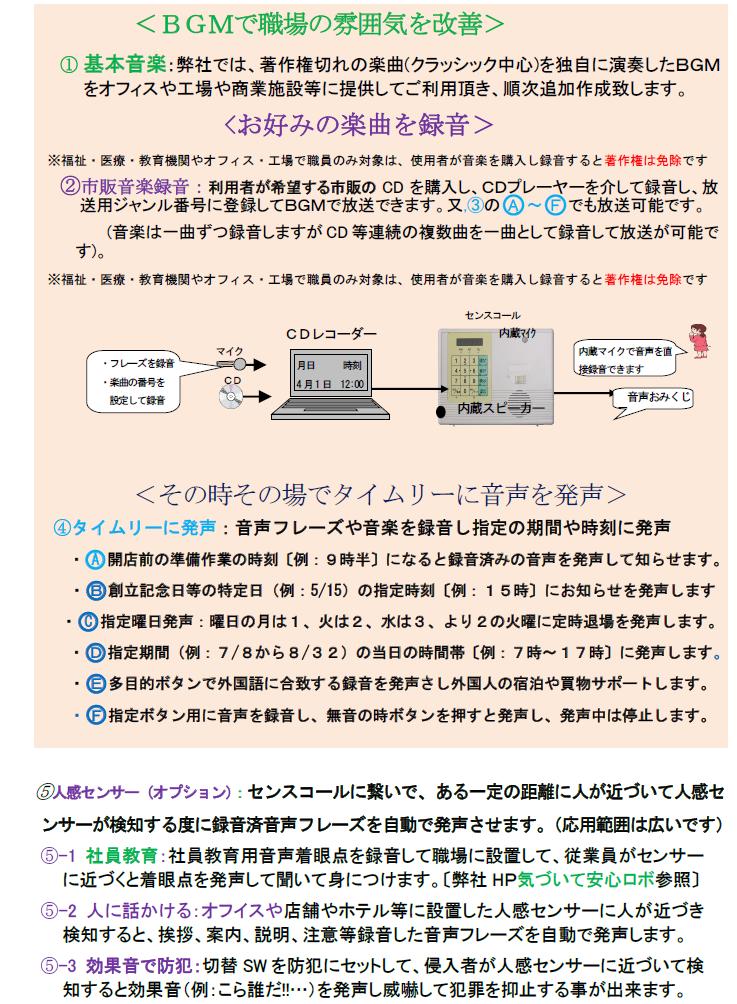センスコール:多機能BGMロボ